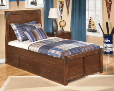 Delburne Twin Panel Bed with Storage by Ashley HomeStore,...