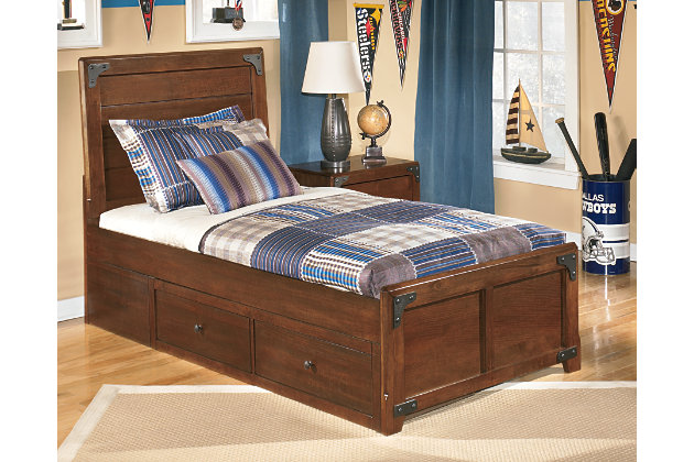 Delburne Twin Panel Bed With Storage Ashley Furniture Homestore