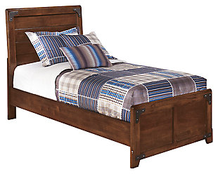 Delburne Kids Twin Panel Bed, Medium Brown, large