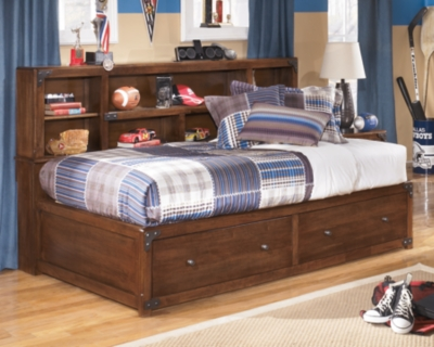 View Bookcase Bed Medium Brown Twin Product Photo