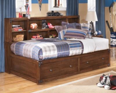 Delburne Twin Bookcase Bed by Ashley HomeStore, Medium Brown