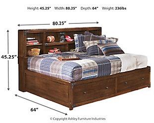 Delburne Full Bookcase Bed, , large