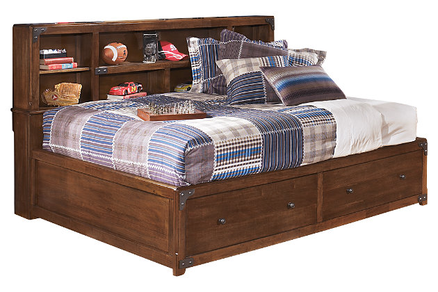 Delburne Full Bookcase Bed by Ashley HomeStore, Brown
