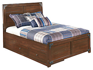 Delburne Panel Bed with Storage, , large