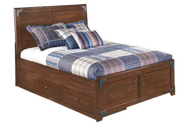 Delburne Full Panel Bed with Storage by Ashley HomeStore, Brown