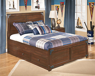 Delburne Panel Bed with Storage, , rollover