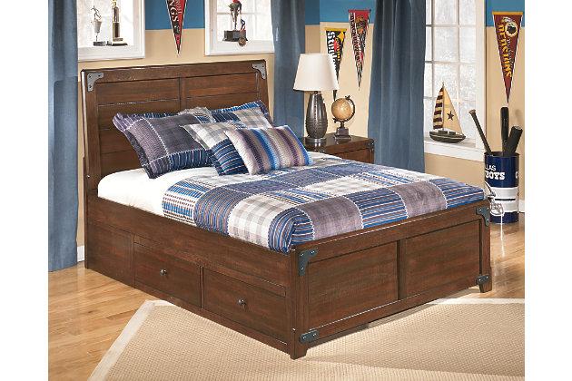 Delburne Full Panel Bed With Storage Ashley Furniture Homestore