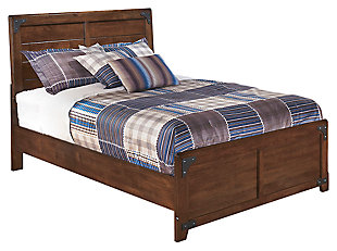 Delburne Full Panel Bed, Medium Brown, large