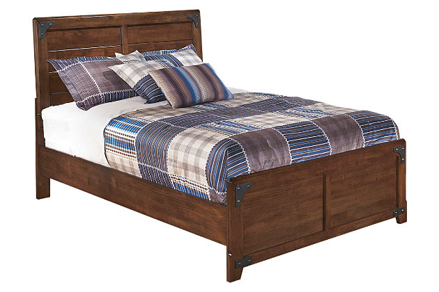 Delburne Full Panel Bed by Ashley HomeStore, Brown