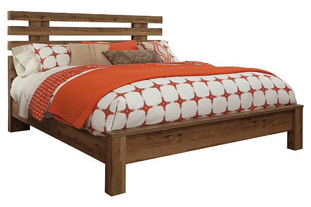 Brown Cinrey Queen Panel Bed by Ashley HomeStore