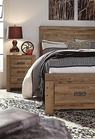 Cinrey Queen Panel Bed with Storage, Medium Brown, large