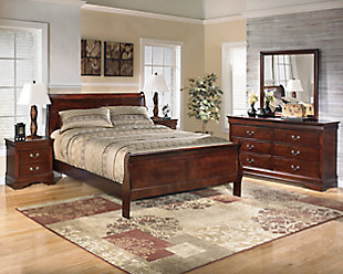 Alisdair 5-Piece Queen Master Bedroom, Dark Brown, rollover