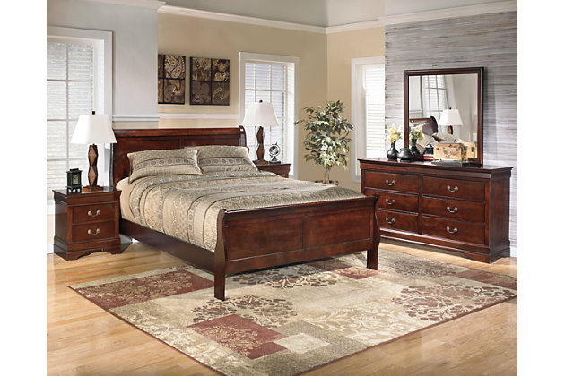 Alisdair 5-Piece Queen Master Bedroom, Dark Brown, large