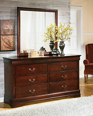 dresser with hutch mirror solid wood large alisdair dresser and mirror rollover dressers ashley furniture homestore