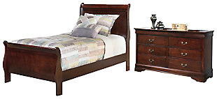 Alisdair Twin Sleigh Bed with Dresser, , large