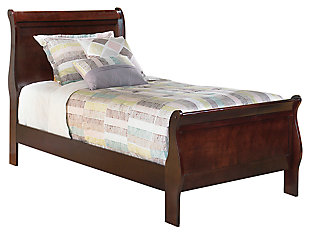 Alisdair Twin Sleigh Bed, Dark Brown, large