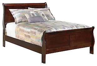 Alisdair Full Bed with 2 Nightstands, Dark Brown, large