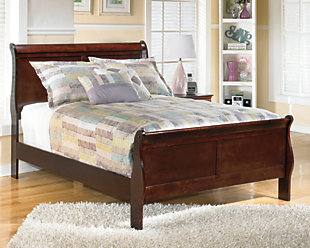 Alisdair Full Sleigh Bed, Dark Brown, rollover