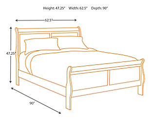 Alisdair Queen Bed with 2 Nightstands, Dark Brown, large