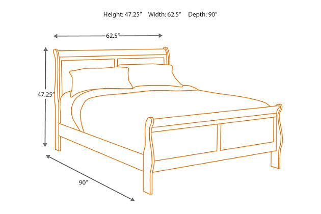 dark brown alisdair queen sleigh bed view 5