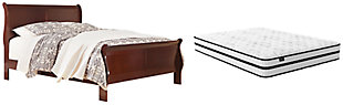 Alisdair Queen Sleigh Bed with Mattress, , rollover
