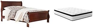 Alisdair Queen Sleigh Bed with Mattress, , large