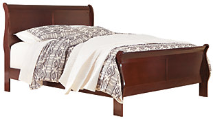 Alisdair Queen Sleigh Bed with 2 Nightstands, Dark Brown, large