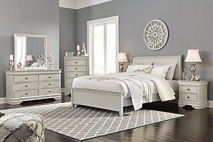 Jorstad Queen Bed with 2 Nightstands, Gray, large