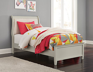 Jorstad Full Sleigh Bed, Gray, rollover