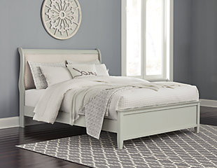 Jorstad Queen Sleigh Bed, Gray, rollover