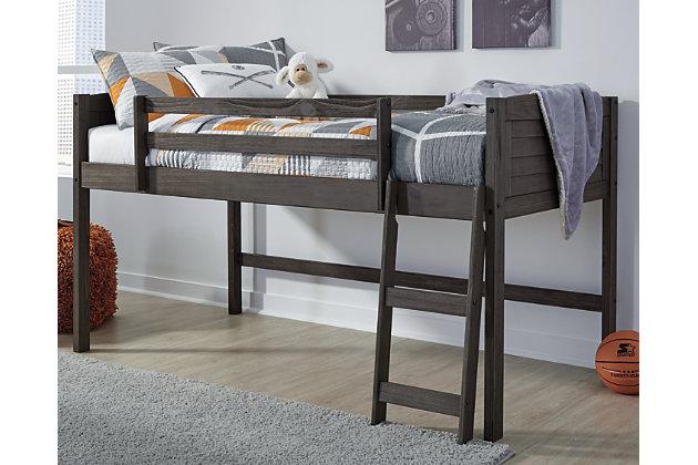 Caitbrook Twin Loft Bed Frame, , large