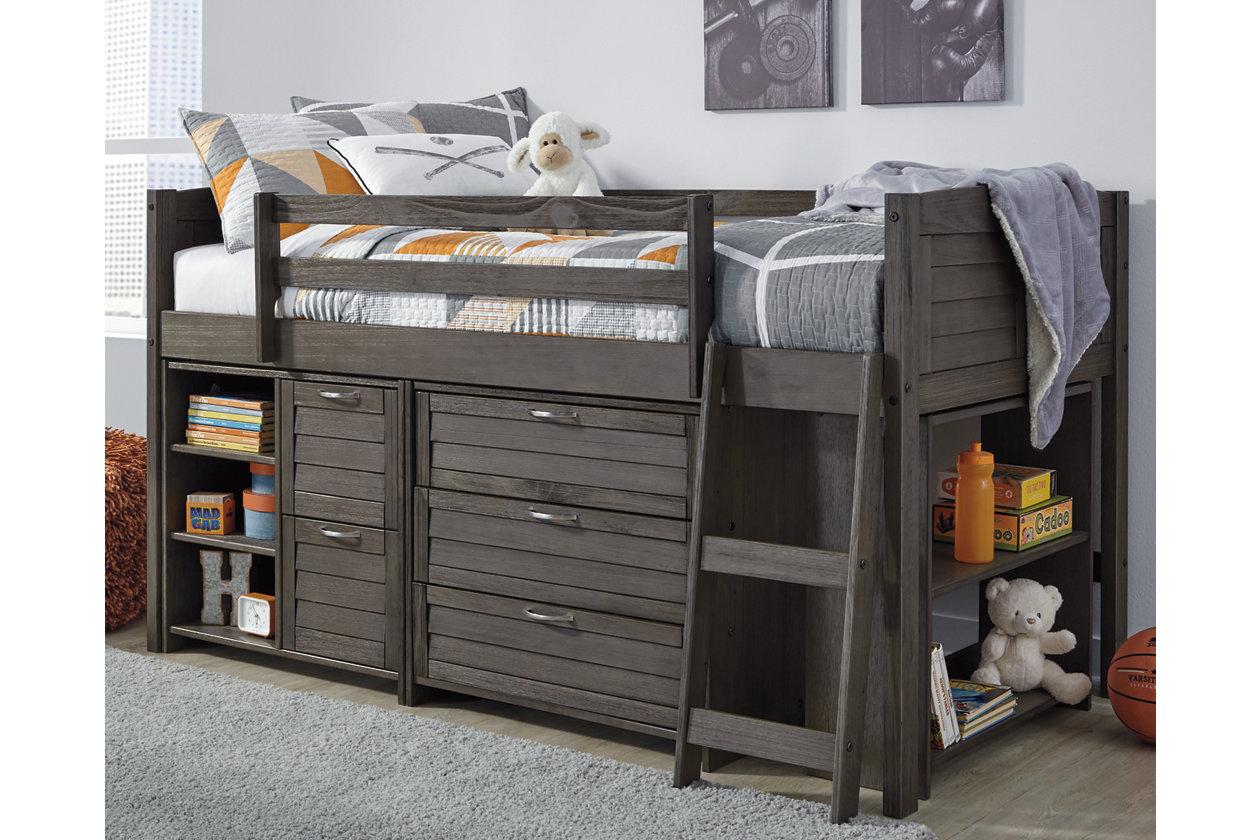 best website be3bd da99a Caitbrook Twin Loft Bed with Storage | Ashley Furniture ...