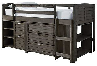 Caitbrook Twin Loft Bed with Storage, , large