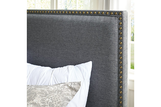 Chasebrook Queen/Full Upholstered Headboard, Gray, large