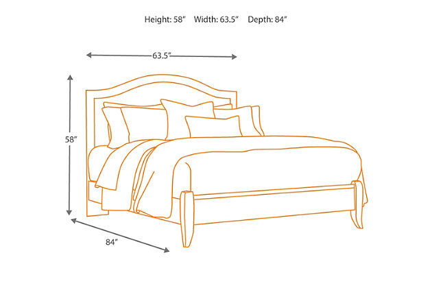 corraya queen panel bed | ashley furniture homestore