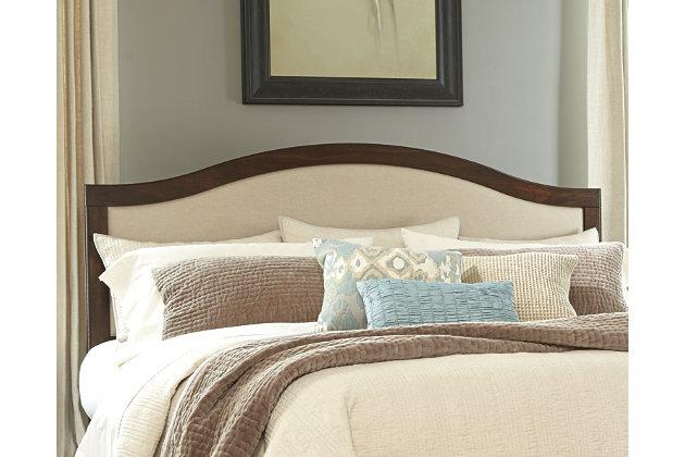 corraya king upholstered panel headboard | ashley furniture homestore