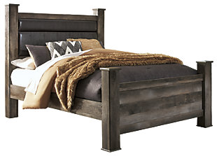 Wynnlow Queen Poster Bed, Gray, large