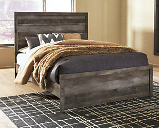Wynnlow Queen Panel Bed, Gray, rollover