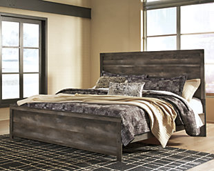 Wynnlow King Panel Bed, Gray, rollover
