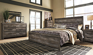 Wynnlow King Panel Bed, Gray, large