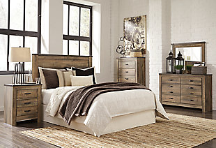 Trinell Queen Panel Headboard, Brown, large
