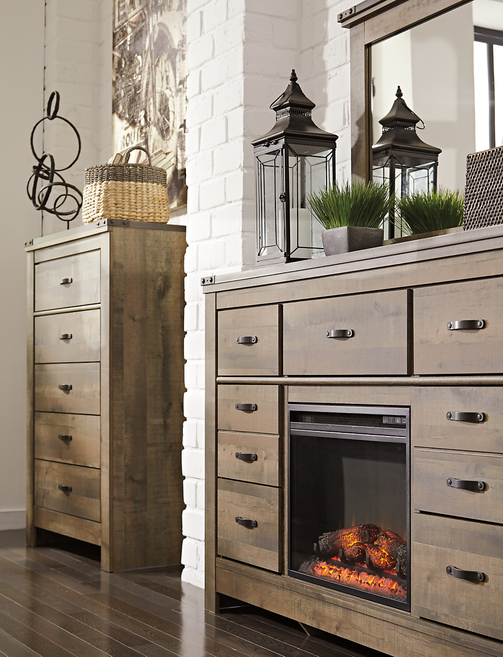 trinell dresser with fireplace option corporate website of