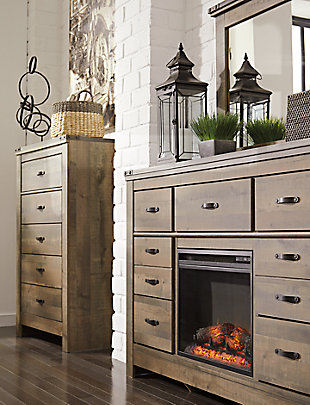 Trinell Dresser with Fireplace, , rollover