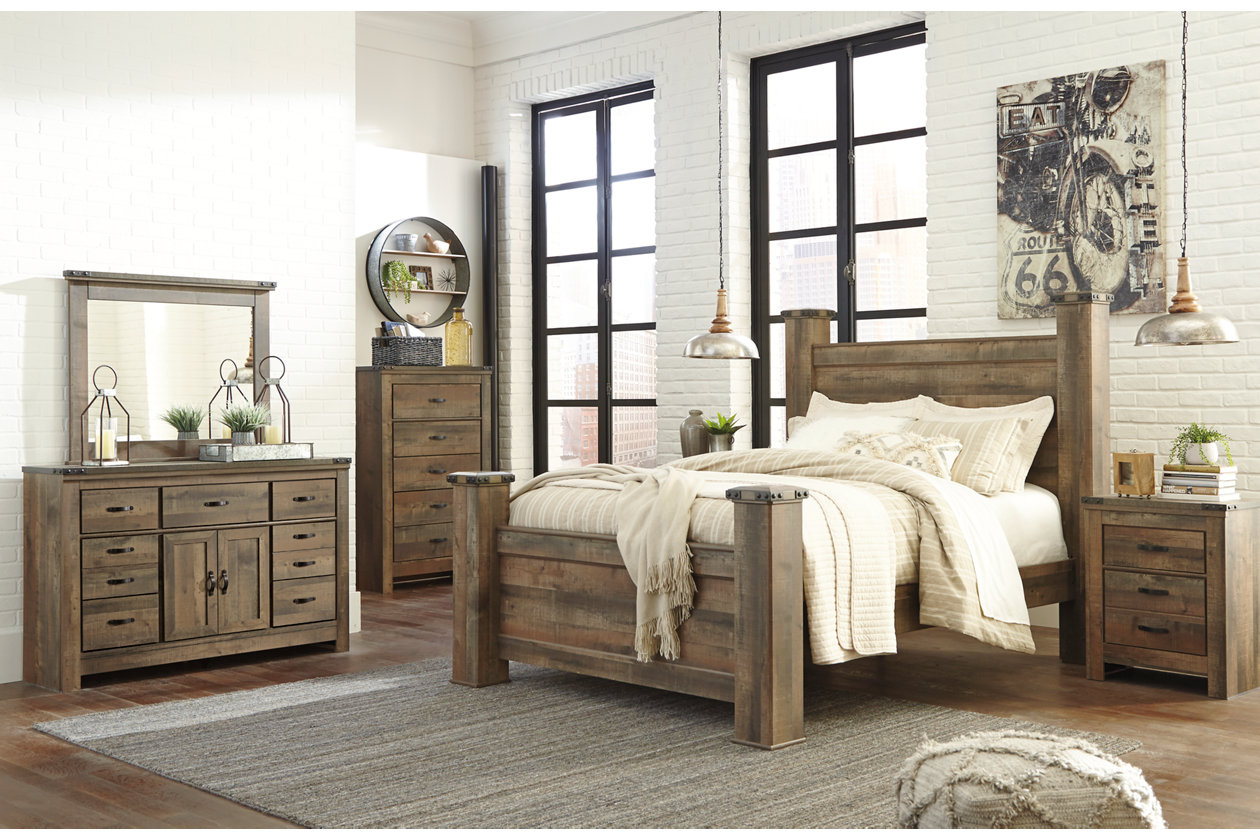 Trinell Queen Poster Bed Ashley Furniture Homestore