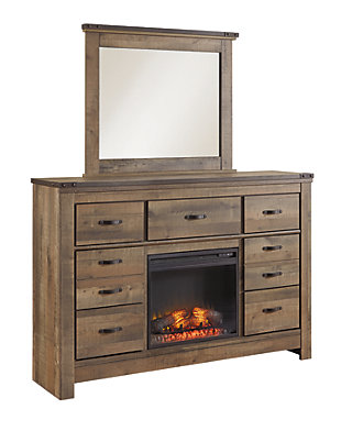 Trinell Dresser with Fireplace, , large