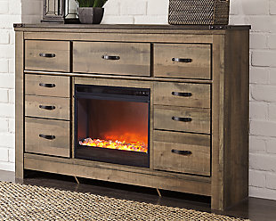 Trinell Dresser with Electric Fireplace, , rollover