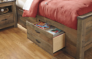 Trinell Full Panel Bed with Drawer Storage, , large