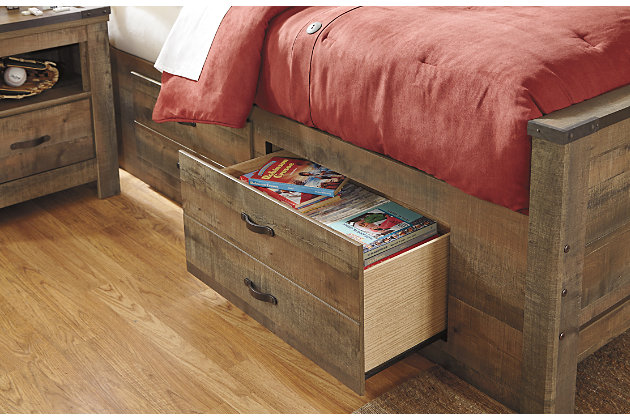 Trinell Twin Bookcase Bed with Drawer Storage, , large