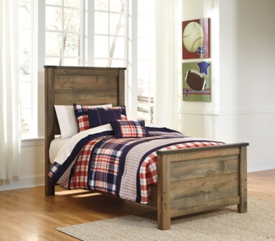 Trinell Twin Panel Bed by Ashley HomeStore, Brown