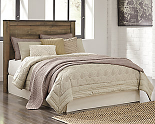 Trinell Queen Panel Headboard, Brown, rollover